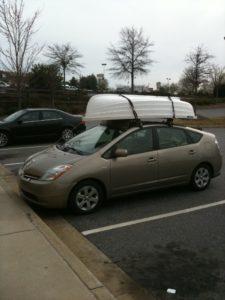 Bringing Home on Prius Roof