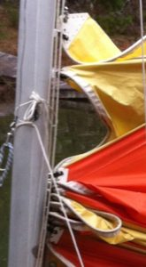 .011002 Hobie 16 Main Sail Luff Conversion to Slugs 4