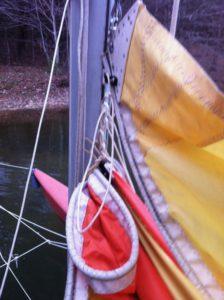.011002 Hobie 16 Main Sail Luff Conversion to Slugs 6
