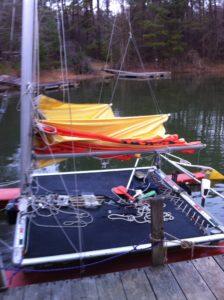 .011002 Hobie 16 Main Sail Luff Conversion to Slugs 8