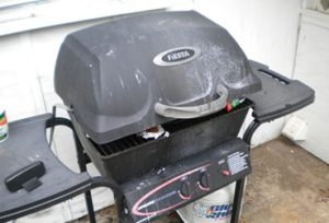 Electric Grill In Gas Grill With Timer 1