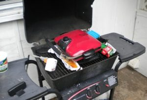 Electric Grill In Gas Grill With Timer