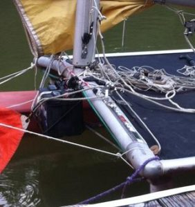 Idea Hobie Jib Cleat Positioner Using Bungee