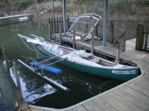 Idea .010801 Sailing Canoe Mast Lowered 2