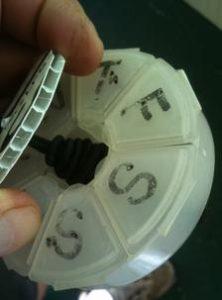 Pill Box Top Holder 1