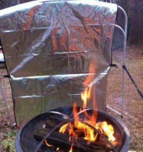 Pop Open Camp Fire Reflector