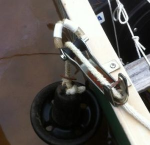 Rowboat Quick Release Anchor Guide Modification