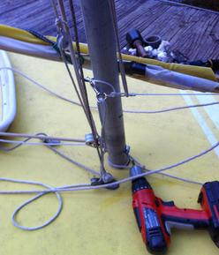 Sunfish Rig for Using a Smaller Sail 1